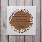 Brown Floral Laser Cut Rustic Gem - Wedding invitation - 44