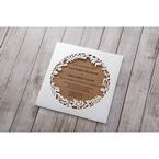 Brown Floral Laser Cut Rustic Gem - Wedding invitation - 5