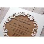 Brown Floral Laser Cut Rustic Gem - Wedding invitation - 6