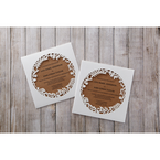 Brown Floral Laser Cut Rustic Gem - Wedding invitation - 8
