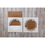 Brown Floral Laser Cut Rustic Gem - Wedding invitation - 9
