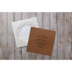 Brown Floral Laser Cut Rustic Gem - Wedding invitation - 10