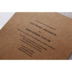 Brown Floral Laser Cut Rustic Gem - Wedding invitation - 11