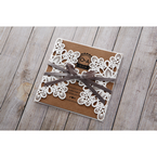 Brown Blissfully Rustic Laser Cut Wrap - Wedding invitation - 25