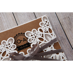 Brown Blissfully Rustic Laser Cut Wrap - Wedding invitation - 27