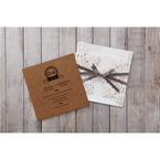 Brown Blissfully Rustic Laser Cut Wrap - Wedding invitation - 30