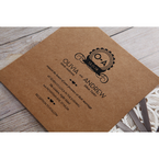 Brown Blissfully Rustic Laser Cut Wrap - Wedding invitation - 31