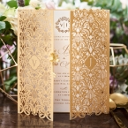 Imperial Glamour wedding invitations PWI116022-WH