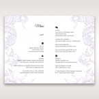 Romantic Rose Pocket menu card DM11049_2