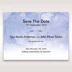 Purple Lasercut pocket with Love Birds - Save the Date - Wedding Stationery - 30