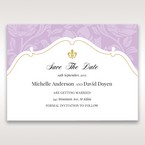 Purple Gold Foiled Floral Laser Cut - Save the Date - Wedding Stationery - 32