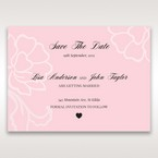 Pink Floral Laser Cut with Embossing - Save the Date - Wedding Stationery - 44