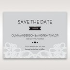 Silver/Gray Elagant Laser Cut Wrap - Save the Date - Wedding Stationery - 48