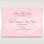 Pink Laser Cut Floral Half Pocket  - Save the Date - Wedding Stationery - 61