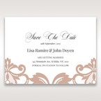 White Elegant Laser Cut Half Pocket with a Bow - Save the Date - Wedding Stationery - 71