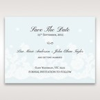 Silver/Gray Floral Couture in Blue & White - Save the Date - Wedding Stationery - 84