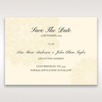 Brown Embossed Swirls Hard Layer - Save the Date - Wedding Stationery - 6