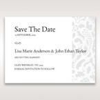 White Elegant Laser Cut - Save the Date - Wedding Stationery - 43