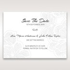 Orange Laser Cut Flower Frame - Save the Date - Wedding Stationery - 14