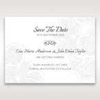 White Laser Cut Floral Lace - Save the Date - Wedding Stationery - 47