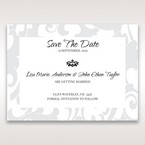 Blue Laser Scrolling Grandeur Layered Laser Cut - Save the Date - Wedding Stationery - 29