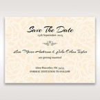 Yellow/Gold Laser Victorian Lace Laser Cut Wrap - Save the Date - Wedding Stationery - 29