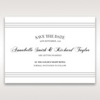 White Modern Pocket-Grey - Save the Date - Wedding Stationery - 82