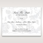 Silver/Gray Enchanted Floral Pocket III - Save the Date - Wedding Stationery - 41