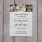 Black Gold Poppies in a Rose Garden - Save the Date - Wedding Stationery - 75