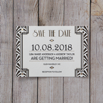 Black Dazzling Silver Foil Stamped - Save the Date - Wedding Stationery - 84