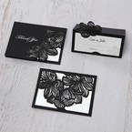 White Laser Cut Floral Lace - Save the Date - Wedding Stationery - 64