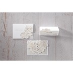 White Laser Cut Floral Lace - Save the Date - Wedding Stationery - 72