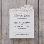White Chic Laser Cut - Save the Date - Wedding Stationery - 16