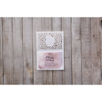 Pink Modern Laser Cut - Save the Date - Wedding Stationery - 17