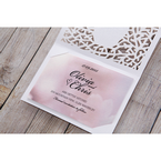 Pink Modern Laser Cut - Save the Date - Wedding Stationery - 18