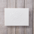 Brown White Embossed Laser Cut - Save the Date - Wedding Stationery - 22