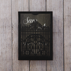 Brown Laser Cut Gate - Save the Date - Wedding Stationery - 26