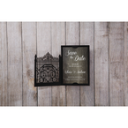 Brown Laser Cut Gate - Save the Date - Wedding Stationery - 36