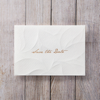 Orange Embossed Announcement - Save the Date - Wedding Stationery - 38