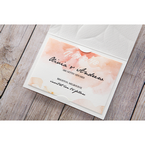 Orange Embossed Announcement - Save the Date - Wedding Stationery - 40