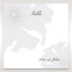 Silver/Gray Twinkling Rose - Table Number Cards - Wedding Stationery - 46