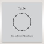 Silver/Gray Jeweled White Lasercut Pocket - Table Number Cards - Wedding Stationery - 44