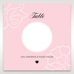 Pink Floral Laser Cut with Embossing - Table Number Cards - Wedding Stationery - 64