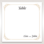 Yellow/Gold Embossed Borders with Classy Gold patterns - Table Number Cards - Wedding Stationery - 94