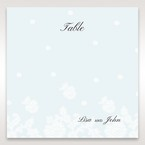 Silver/Gray Floral Couture in Blue & White - Table Number Cards - Wedding Stationery - 29