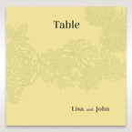 Green Magical Garden - Table Number Cards - Wedding Stationery - 18