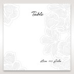 Orange Laser Cut Flower Frame - Table Number Cards - Wedding Stationery - 48