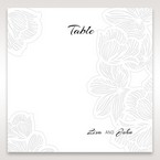 White Laser Cut Flower Frame - Table Number Cards - Wedding Stationery - 53