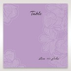 Purple Laser Cut Flower Frame III - Table Number Cards - Wedding Stationery - 15