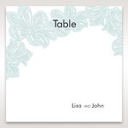 Blue Laser Cut Flower Wrap - Table Number Cards - Wedding Stationery - 46